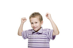 Strong boy Royalty Free Stock Photo