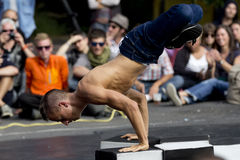 Strong breakdancer. Stock Image