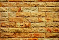 The strong brickwall. Abhakorn Village 2, Phutthamonthon, Nakhon Pathom Province, Thailand Royalty Free Stock Images