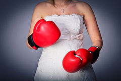 Strong bride Stock Photo
