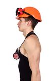 Strong build construction worker Stock Photos