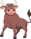 Strong bull cartoon Stock Photo