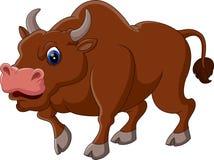 Strong bull cartoon Royalty Free Stock Photos