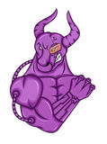 Strong Bull Cyborg Cartoon Character Stock Images