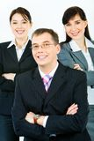 Strong business leader Stock Images
