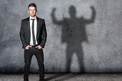Strong Business Man Royalty Free Stock Photos