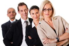 Strong Business Team Royalty Free Stock Photography