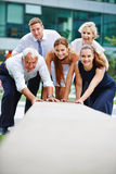 Strong business team doing cooperation royalty free stock images