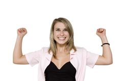 Strong Business woman Stock Image