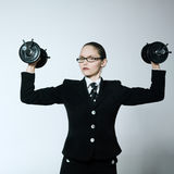 Strong business woman Stock Images