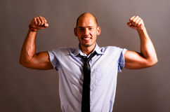 Strong businessman Stock Image