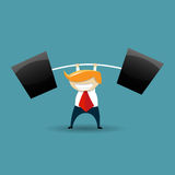 Strong Businessman Royalty Free Stock Photo