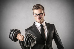 A strong businessman Stock Photography