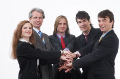 Strong businessteam Royalty Free Stock Photography