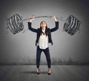 Strong businesswoman Stock Image