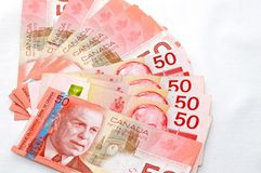 Strong canadian dollar 2. A Strong 50s canadian dollars stock photos