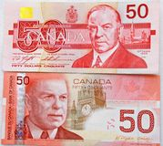 Strong canadian dollar. A Strong 50s canadian dollars royalty free stock photography