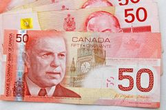 Strong canadian dollar 5. A Strong 50s canadian dollars stock image