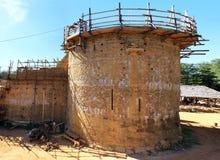 Strong castle in construction Stock Photos