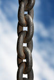 Strong Chain. Rusty but strong chain royalty free stock images