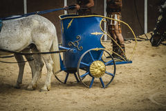 Strong, chariot race in a Roman circus, gladiators and slaves fi Royalty Free Stock Photography