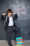 Strong cheerful school boy Stock Image