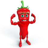 Strong chili pepper Stock Images
