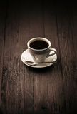 Strong coffee arabica cup with saucer Stock Image