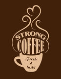 Strong coffee poster Stock Photography