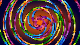 Strong colored spirals fast rotating stock video footage