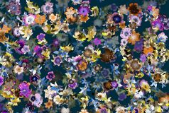 Strong colors spatial floral background Royalty Free Stock Photo