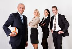 Strong competitive business team Stock Photos