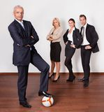 Strong competitive business team Royalty Free Stock Photos