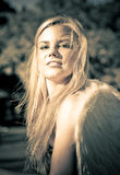 Strong Confident And Beautiful Female Angel Stock Images