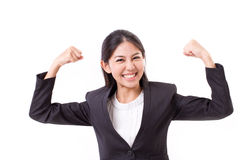 Strong, confident, smiling, happy business woman Royalty Free Stock Images