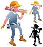Strong construction worker Royalty Free Stock Photography
