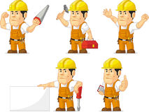Strong Construction Worker Mascot Stock Image