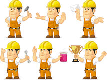 Strong Construction Worker Mascot 3 Royalty Free Stock Image
