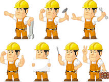 Strong Construction Worker Mascot 11 Stock Images