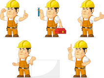 Strong Construction Worker Mascot 5 Stock Images