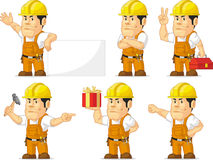 Strong Construction Worker Mascot 10 Royalty Free Stock Photography
