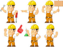 Strong Construction Worker Mascot 6 Royalty Free Stock Photography