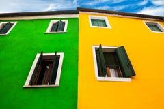 Strong Contrast, Burano Italy Royalty Free Stock Photos