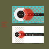 Strong contrast vector business card set. Template design Royalty Free Stock Image