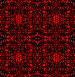 Strong contrasting mosaic tile in black and red Stock Photo