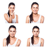 Strong, convincing, determined, confident girl composite Royalty Free Stock Images