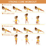 Strong core workout Stock Photos