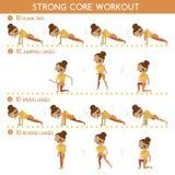 Strong core workout Stock Photos
