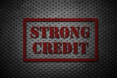 Strong Credit concept stock illustration