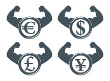 Strong currency icon Royalty Free Stock Photo
